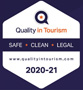 Quality in Tourism Safe and Clean (Logo)